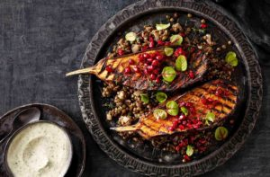 Jalna Recipe Harissa Eggplant with Herb Yoghurt